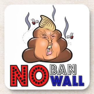 NoBanNoWall No Ban No Wall Protest Immigration Ban Beverage Coaster