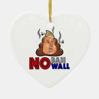 NoBanNoWall No Ban No Wall Protest Immigration Ban Ceramic Ornament
