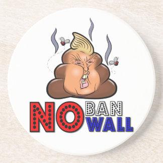NoBanNoWall No Ban No Wall Protest Immigration Ban Drink Coaster