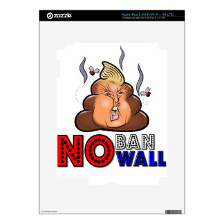 NoBanNoWall No Ban No Wall Protest Immigration Ban iPad 3 Decals