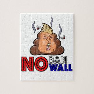 NoBanNoWall No Ban No Wall Protest Immigration Ban Jigsaw Puzzle