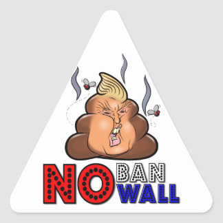 NoBanNoWall No Ban No Wall Protest Immigration Ban Triangle Sticker