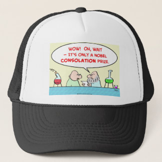 nobel consolation prize scientists laboratory trucker hat