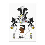 Nobel Family Crest Gallery Wrapped Canvas