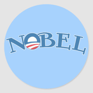 Nobel Obama Nobel Peace Prize Round Sticker