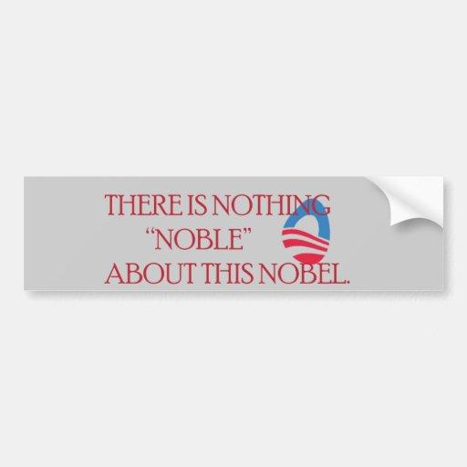 Nobel Peace Prize Car Bumper Sticker