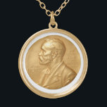 """Nobel Peace Prize Necklace<br><div class=""""desc"""">Some may say you're not qualified to bestow such an honor yourself. After all, What contribution to World peace have you made? What verifiable progress have your efforts brought about that makes you or whomever you by this piece for worthy? Yes, that's right. None, nothing, zip. So join your place...</div>"""