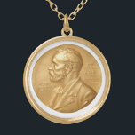 """Nobel Peace Prize Necklace<br><div class=""""desc"""">Some may say you&#39;re not qualified to bestow such an honor yourself. After all, What contribution to World peace have you made? What verifiable progress have your efforts brought about that makes you or whomever you by this piece for worthy? Yes, that&#39;s right. None, nothing, zip. So join your place...</div>"""