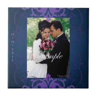 Nobel Photo Blue & Purple Save The Date Tile