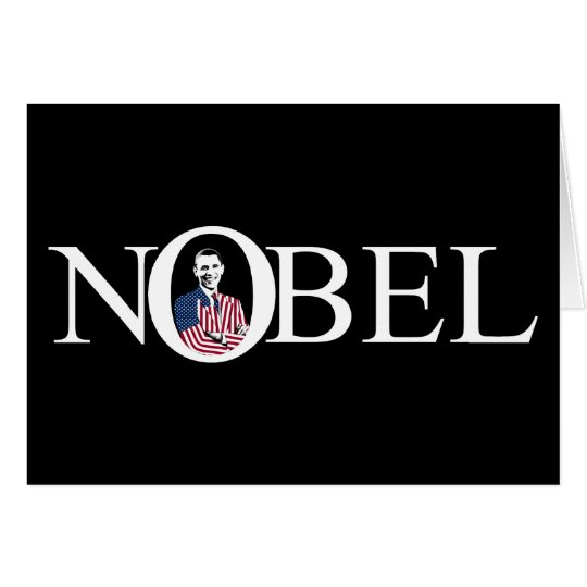 Nobel Prize Winner -- Barack Obama Card