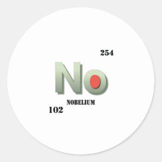 nobelium classic round sticker