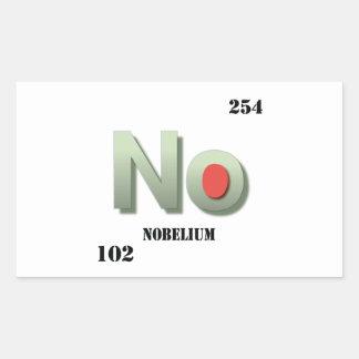 nobelium rectangular sticker