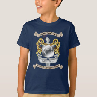 Nobility By Choice Occupy Crest Black Kids T-Shirt