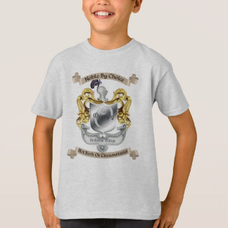 Nobility By Choice Occupy Crest White Kids T-Shirt