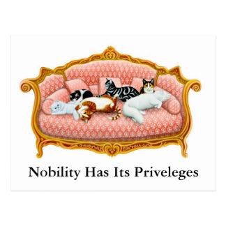 Nobility Cats Postcard