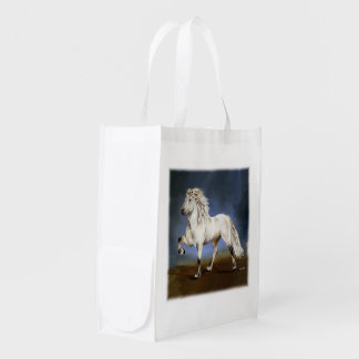 Nobility ~ Icelandic horse Grocery Bags