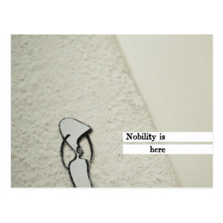 nobility is here postcard