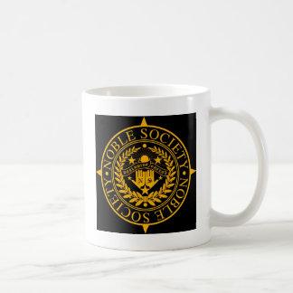 NOBLE BLACK AND GOLD DESIGN COFFEE MUG