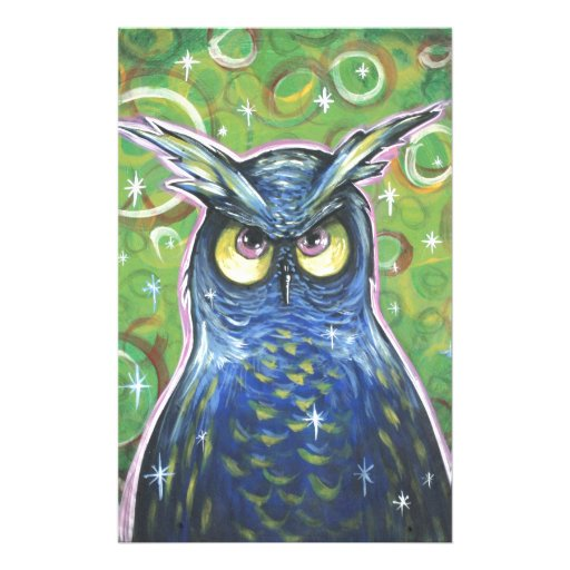 Noble Blue Owl Stationery Paper