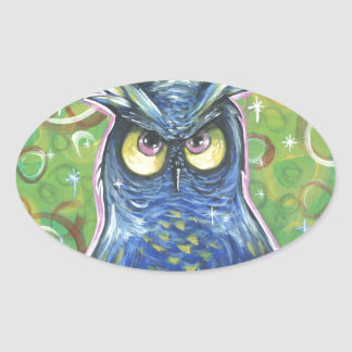 Noble Blue Owl Sticker
