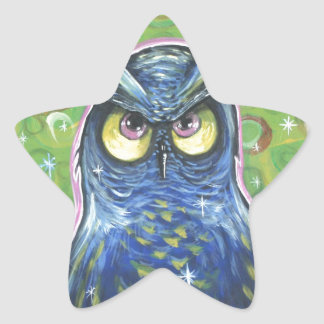 Noble Blue Owl Stickers