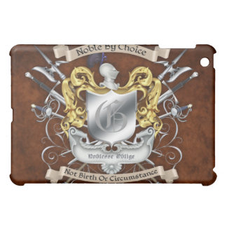 Noble by Choice Knight Crest Brown  Cover For The iPad Mini