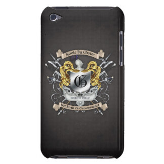 Noble by Choice Monogram Sword Crest Black Case iPod Touch Cases