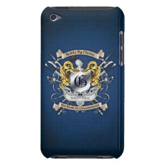 Noble by Choice Monogram Sword Crest Blue Case Case-Mate iPod Touch Case