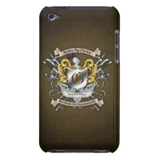 Noble by Choice Monogram Sword Crest Brown Case Barely There iPod Cases