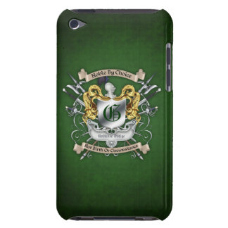 Noble by Choice Monogram Sword Crest Green Case Barely There iPod Cases