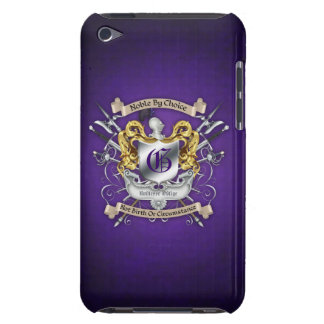 Noble by Choice Monogram Sword Crest Purple Case Barely There iPod Covers