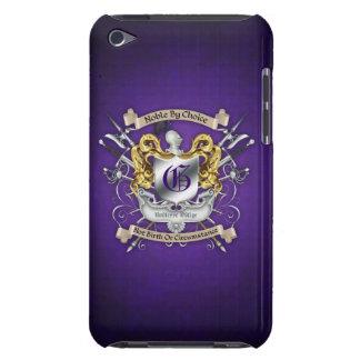 Noble by Choice Monogram Sword Crest Purple Case