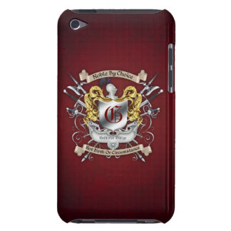 Noble by Choice Monogram Sword Crest Red Case iPod Touch Cases