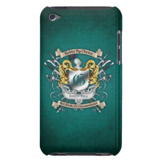 Noble by Choice Monogram Sword Crest Teal Case Barely There iPod Cover