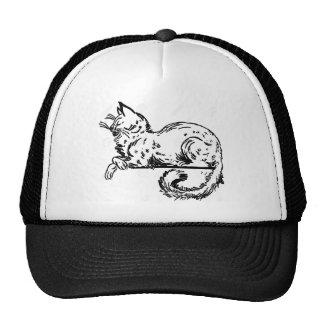 Noble Cat Sitting On Ledge Trucker Hat
