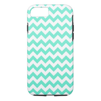 Noble Chevron Mint Green And White iPhone 7 Case