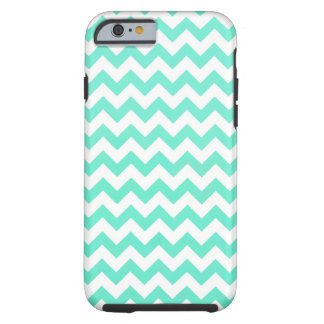 Noble Chevron Mint Green And White Tough iPhone 6 Case