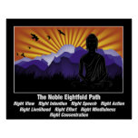 Noble Eightfold Path Buddha Poster
