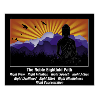Noble Eightfold Path Buddha Poster