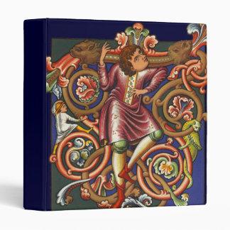"Noble elegante del baile del manuscrito medieval carpeta 1"""