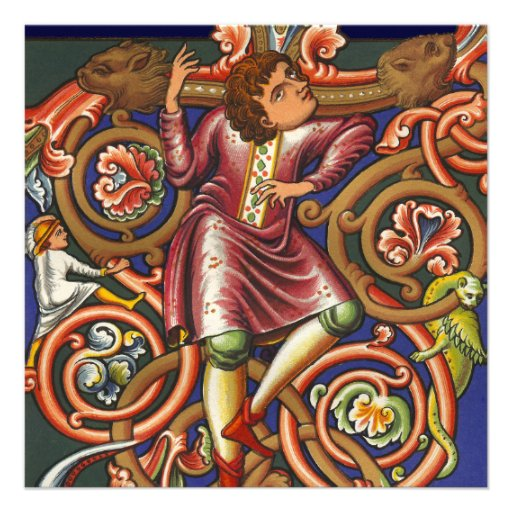 Noble elegante del baile del manuscrito medieval invitacion personal