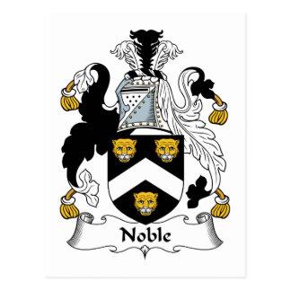 Noble Family Crest Postcard