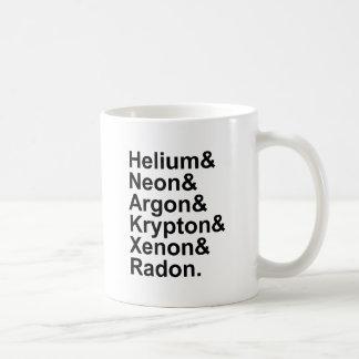 Noble Gases Helium Neon Argon Krypton Radon Xenon Classic White Coffee Mug