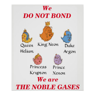 Noble Gases Poster