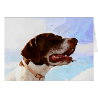 Noble german shorthaired pointer note cards