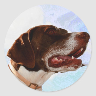 Noble german shorthaired pointer stickers