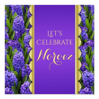 Noble Happy Norooz Hyacinths - Invitation