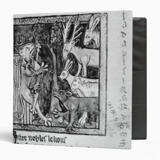 Noble holding, illustration 'Roman de Renart' 3 Ring Binder