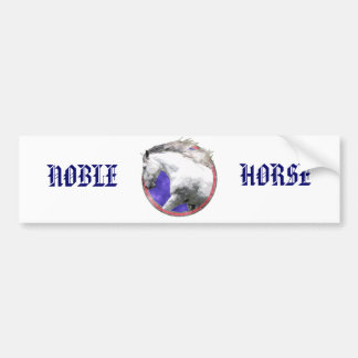 NOBLE HORSE BUMPER STICKER