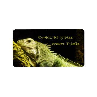 Noble Iguana Warning Labels